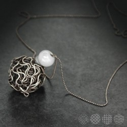 Mesh Ball Necklace