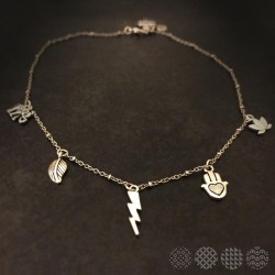 Charm Necklace | Nickel Silver