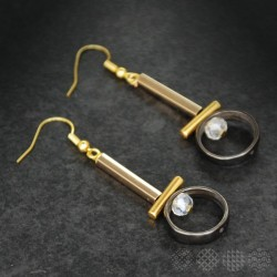 Lined Earings |Gold color