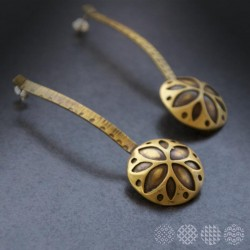 Flower Earings | Brass