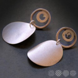 Disc Earings | Nickel Silver