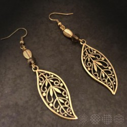 Leaves Earings | Bronze