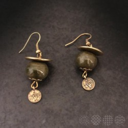Ceramic Earings | Bronze