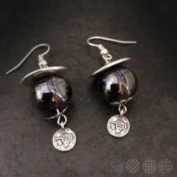 Ceramic Earings | Silver Color