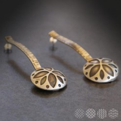 Flower Earings | Nickel Silver