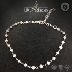 Anklet with Pearl Rosary | Silver 925 ΓΙΑ ΤΟ ΠΟΔΙ