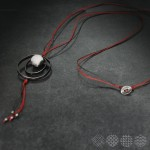 Circles with Onyx Necklace  ΚΟΛΙΕ