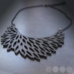 Web Leather Necklace ΚΟΛΙΕ