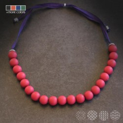 Mat Beads Necklace | Multi Color
