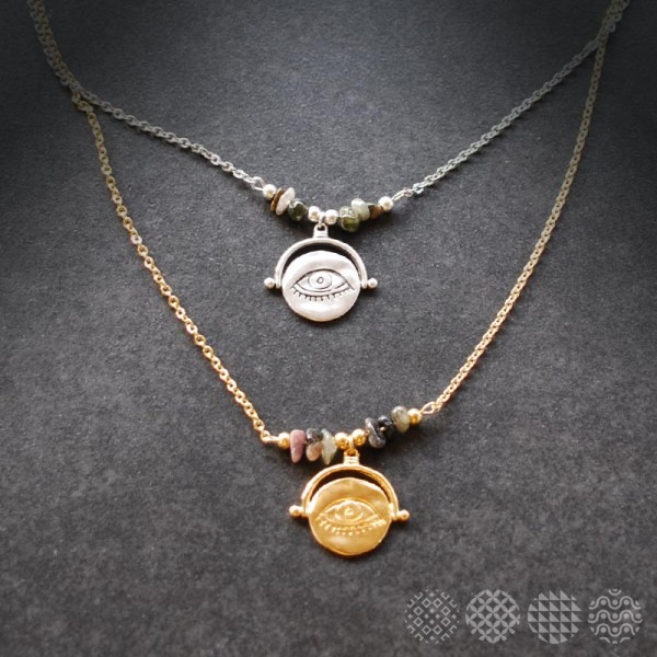Ancient Eye Necklace   Multi color ΚΟΛΙΕ