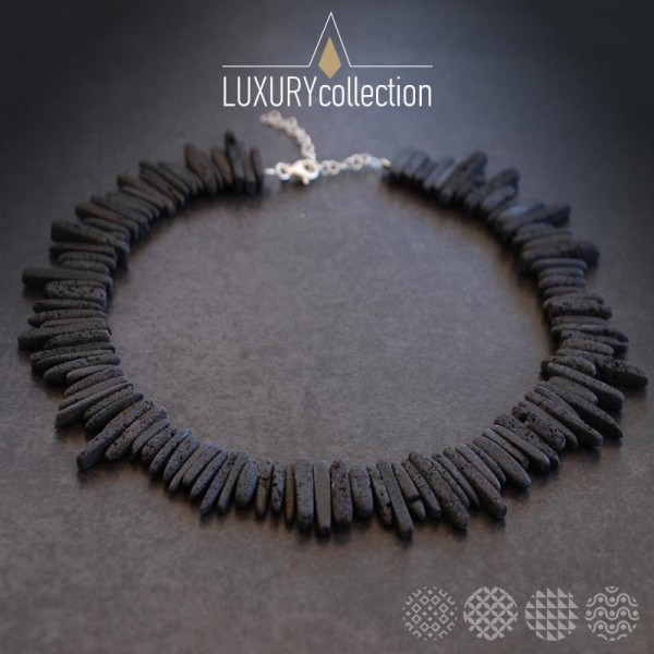 Lava Nails Necklace   Silver 925 ΚΟΛΙΕ