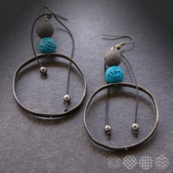 Lava Hoop Earrings | Black ΣΚΟΥΛΑΡΙΚΙΑ