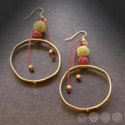 Lava Hoop Earrings | Bronze ΣΚΟΥΛΑΡΙΚΙΑ