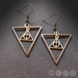 Double Triangle Earrings | Black ΣΚΟΥΛΑΡΙΚΙΑ