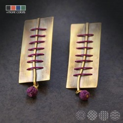 Parallel Earrings | Brass ΣΚΟΥΛΑΡΙΚΙΑ