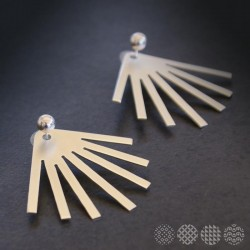 Sunbeam Earrings | Nickel Silver ΣΚΟΥΛΑΡΙΚΙΑ