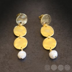 Nisos Earrings | Gold color ΣΚΟΥΛΑΡΙΚΙΑ