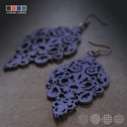 Leather Floral Earrings ΣΚΟΥΛΑΡΙΚΙΑ