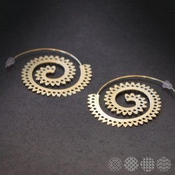 Spiral Hoops | Gold color ΣΚΟΥΛΑΡΙΚΙΑ