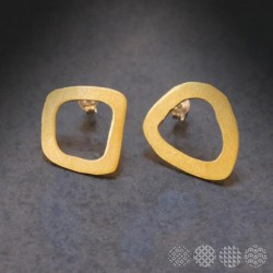 Moving Plates Earrings #1 | Brass ΣΚΟΥΛΑΡΙΚΙΑ