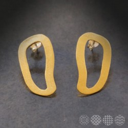 Moving Plates Earrings #2 | Brass ΣΚΟΥΛΑΡΙΚΙΑ
