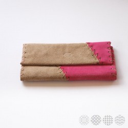 Beige & Pink Leather | Tobacco